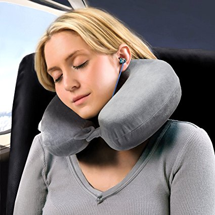 Normally $30, this neck pillow is 68 percent off with this code (Photo via Amazon)