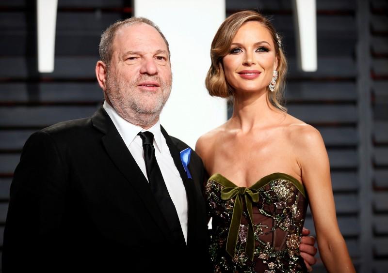 FILE PHOTO - 89th Academy Awards - Oscars Vanity Fair Party - Beverly Hills, California, U.S. - 26/02/17 - Producer Harvey Weinstein and fashion designer Georgina Chapman. REUTERS/Danny Moloshok/File Photo