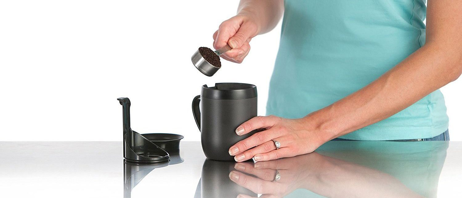 This travel French press is incredibly useful (Photo via Amazon)