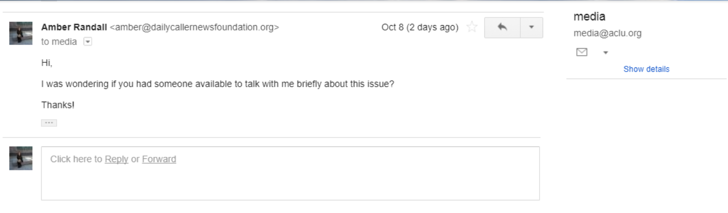 ACLU Emails/Amber Randall DCNF