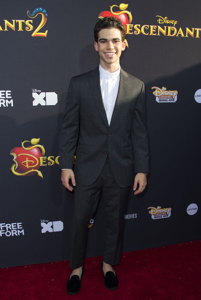 """Actor Cameron Boyce attends the Red Carpet Premiere Event for """"The Descendants 2"""" at the Arclight Cinerama Dome, on July 11, 2017, in Hollywood, California. / AFP PHOTO / VALERIE MACON (Photo credit should read VALERIE MACON/AFP/Getty Images)"""