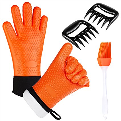 Normally $17, these BBQ oven gloves are 30 percent off with this code (Photo via Amazon)