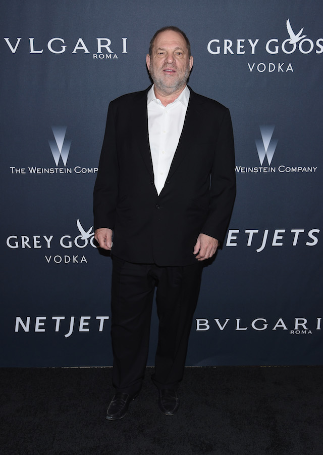 BEVERLY HILLS, CA - FEBRUARY 25: HProducer Harvey Weinstein attends The Weinstein Company's Pre-Oscar Dinner in partnership with Bvlgari and Grey Goose at Montage Beverly Hills on February 25, 2017 in Beverly Hills, California. (Photo by Dimitrios Kambouris/Getty Images for The Weinstein Company)