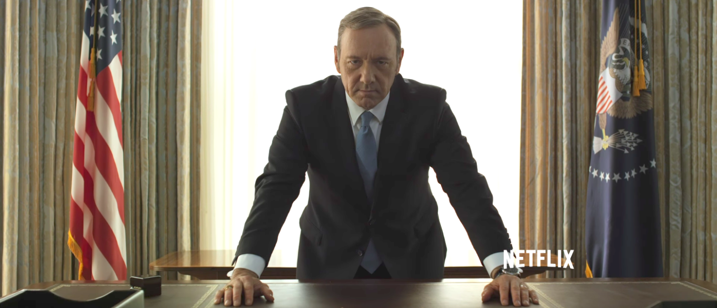 Kevin Spacey as Francis Underwood in Netflix's House of Cards (Photo: Netflix/YouTube Screengrab)Kevin Spacey as Francis Underwood in Netflix's House of Cards (Photo: Netflix/YouTube Screengrab)