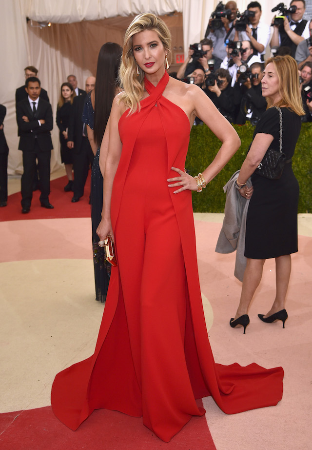 """NEW YORK, NY - MAY 02: Ivanka Trump attends the """"Manus x Machina: Fashion In An Age Of Technology"""" Costume Institute Gala at Metropolitan Museum of Art on May 2, 2016 in New York City. (Photo by Dimitrios Kambouris/Getty Images)"""