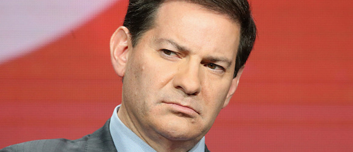 """BEVERLY HILLS, CA - AUGUST 11: Executive producer """"The Circus"""" Mark Halperin speaks onstage at '""""The Circus"""" of Politics' panel discussion during the Showtime portion of the 2016 Television Critics Association Summer Tour at The Beverly Hilton Hotel on August 11, 2016 in Beverly Hills, California. (Photo by Frederick M. Brown/Getty Images)"""