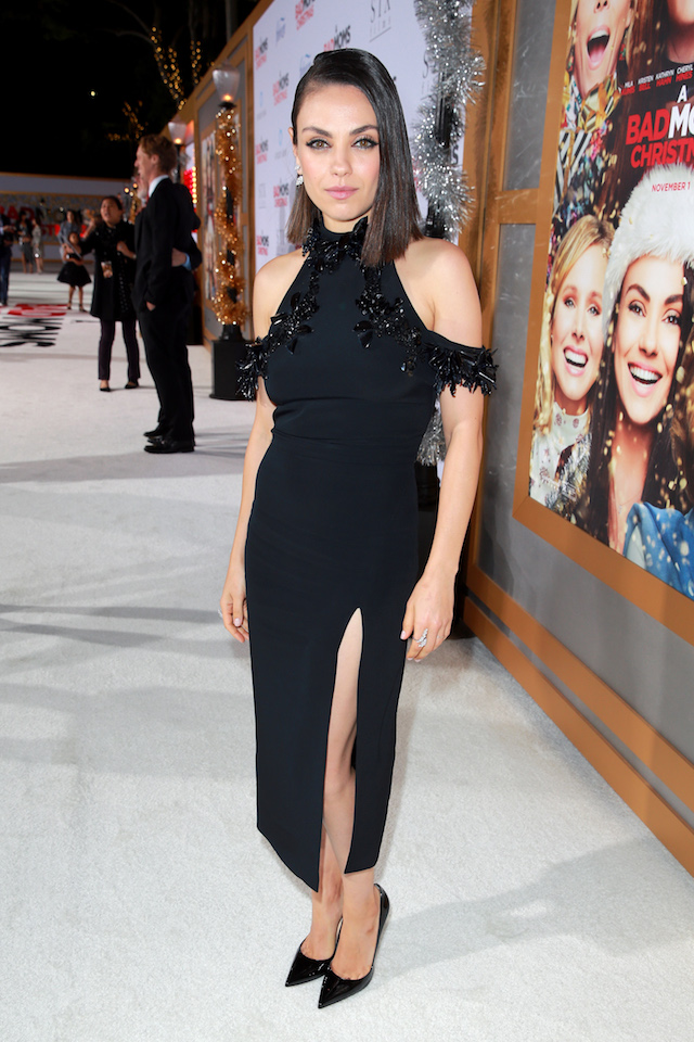 """WESTWOOD, CA - OCTOBER 30: Mila Kunis attends the premiere of STX Entertainment's """"A Bad Moms Christmas"""" at Regency Village Theatre on October 30, 2017 in Westwood, California. (Photo by Rich Fury/Getty Images)"""