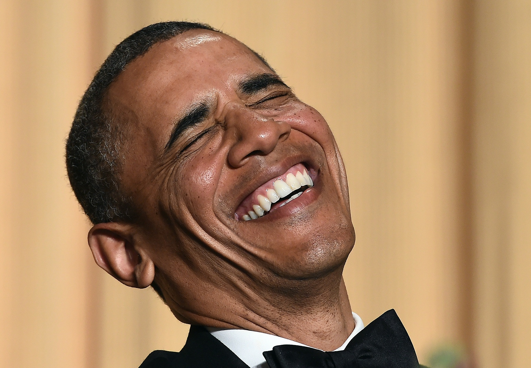 Obama laughing Getty Images/Jewel Samad