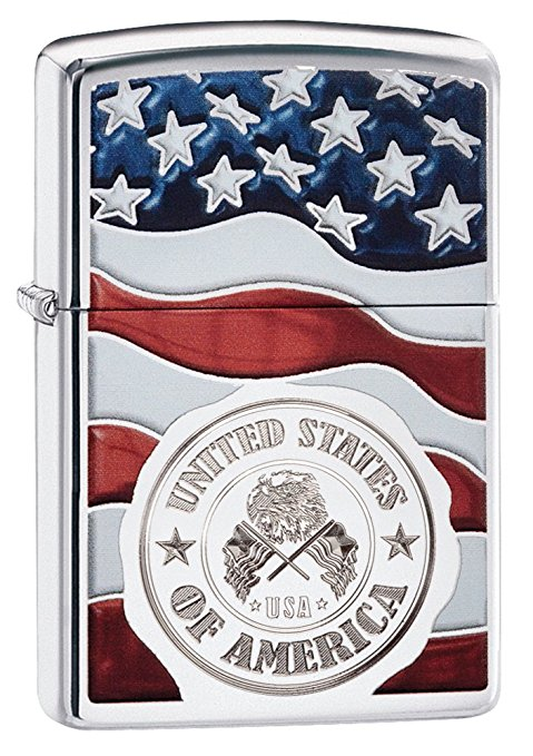 Normally $21, this American flag lighter is 12 percent off (Photo via Amazon)