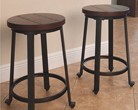 Normally $190, this set of 2 barstools is 66 percent off for Black Friday (Photo via Amazon)