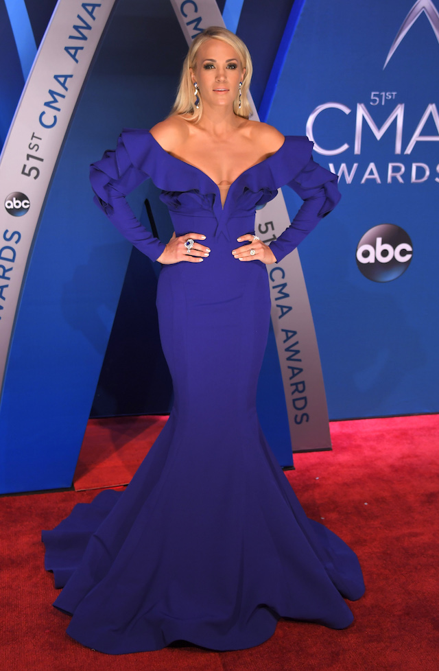 51st Country Music Association Awards ñ Arrivals - Nashville, Tennessee, U.S., 08/11/2017 - Singer Carrie Underwood. REUTERS/Harrison McClary - HP1EDB81TKL7B