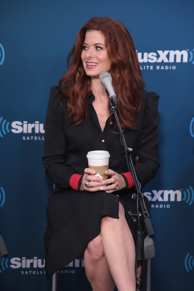 "NEW YORK, NY - SEPTEMBER 25: Actress Debra Messing takes part in SiriusXM's ""Town Hall"" with the cast of ""Will & Grace"" hosted by Andy Cohen (C) on September 25, 2017 in New York City. (Photo by Cindy Ord/Getty Images for SiriusXM)"