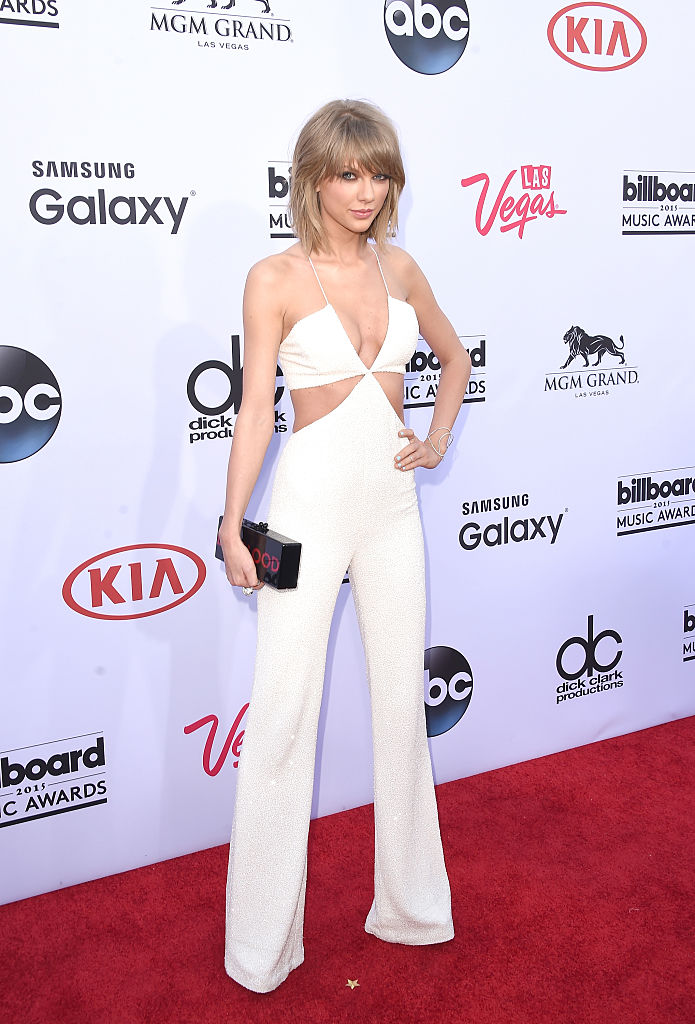 Taylor Swift arriving at the 2015 Billboard Music Awards at MGM Garden Arena in May 2015 in Las Vegas. (Photo by Jason Merritt/Getty Images)