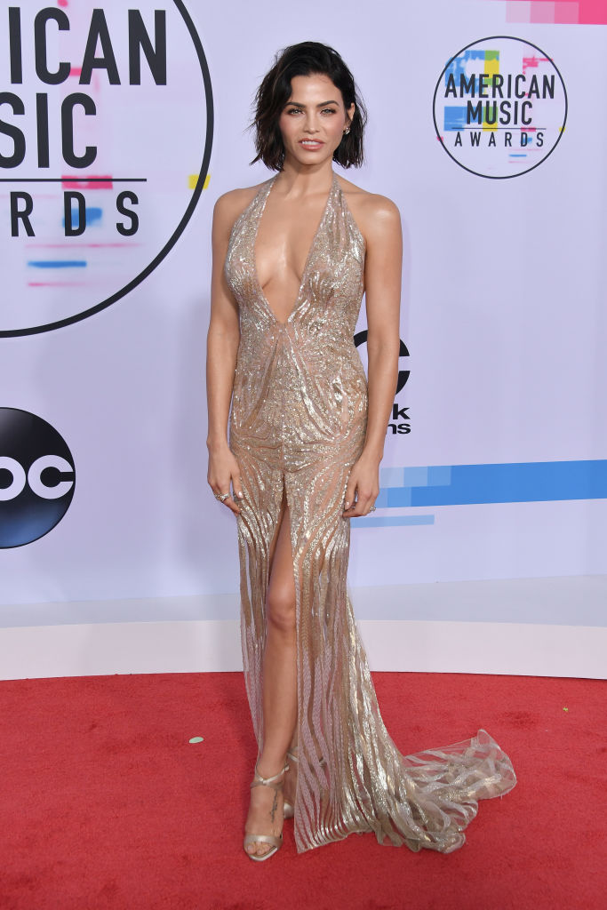Jenna Dewan Tatum on the red carpet before the American Music Awards last night in Los Angeles. (Photo by Neilson Barnard/Getty Images)