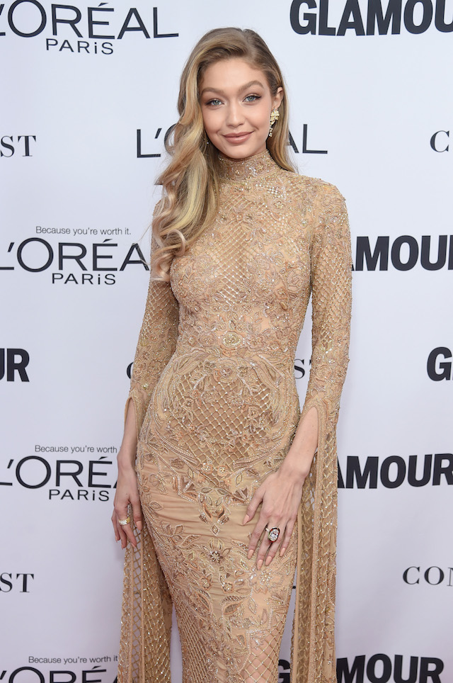 BROOKLYN, NY - NOVEMBER 13: Gigi Hadid attends Glamour's 2017 Women of The Year Awards at Kings Theatre on November 13, 2017 in Brooklyn, New York. (Photo by Jamie McCarthy/Getty Images for Glamour)