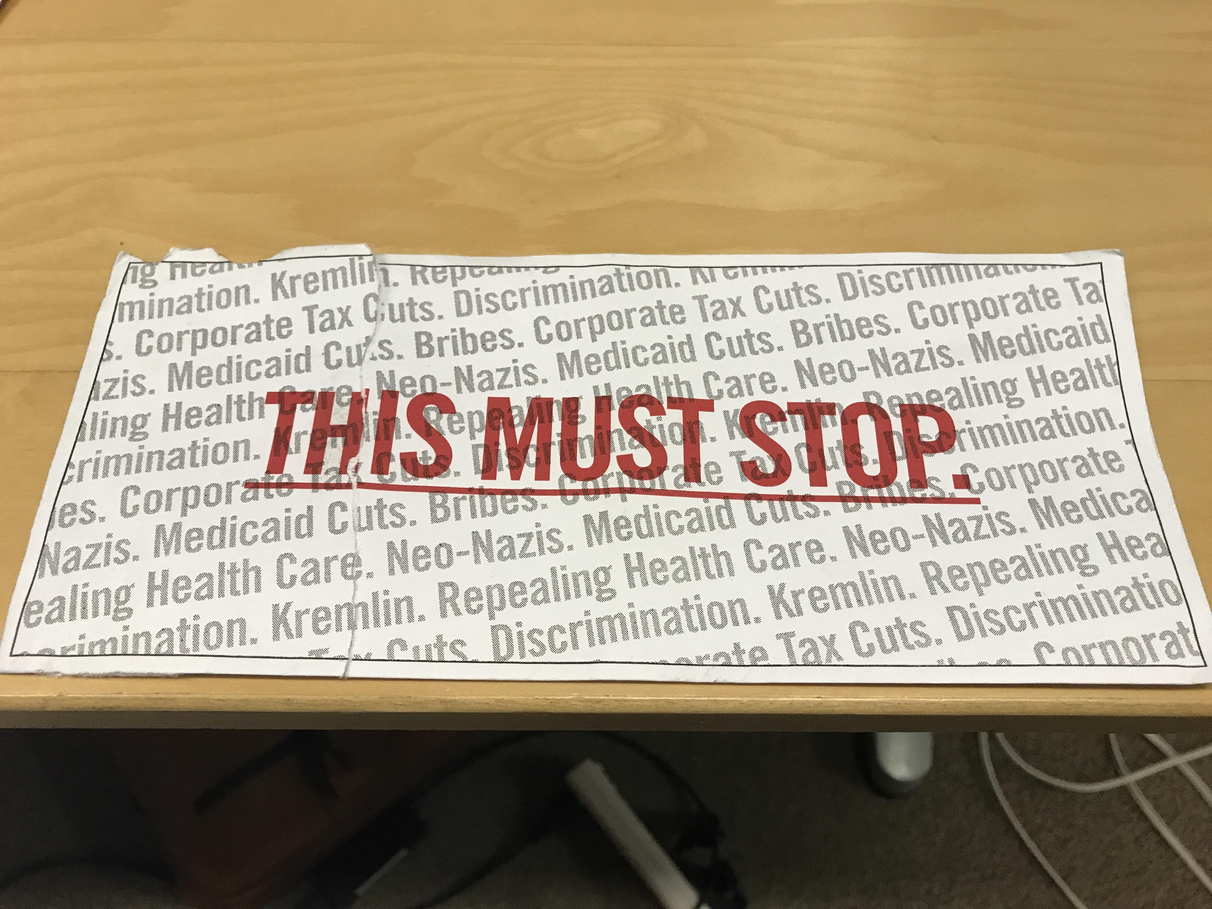 Senate Majority PAC mailer (Photo by Daily Caller)