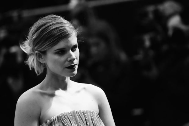 LONDON, ENGLAND - OCTOBER 11: (EDITORS NOTE: This image has been converted in black and white) Kate Mara attends the Mayfair Gala & European Premiere of 'Film Stars Don't Die in Liverpool' during the 61st BFI London Film Festival on October 11, 2017 in London, England. (Photo by Vittorio Zunino Celotto/Getty Images for BFI)
