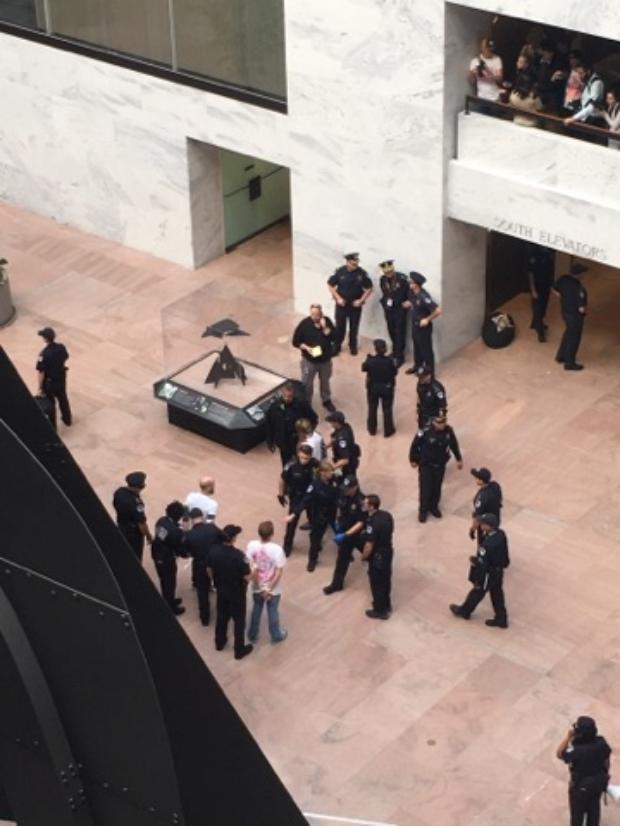 Members of Gays Against Guns arrested in Senate office building, November 6, 2017