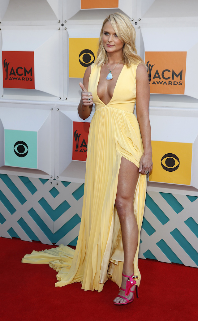 Singer Miranda Lambert arrives at the 51st Academy of Country Music Awards in Las Vegas, Nevada April 3, 2016. REUTERS/Steve Marcus - TB3EC431UGXD5