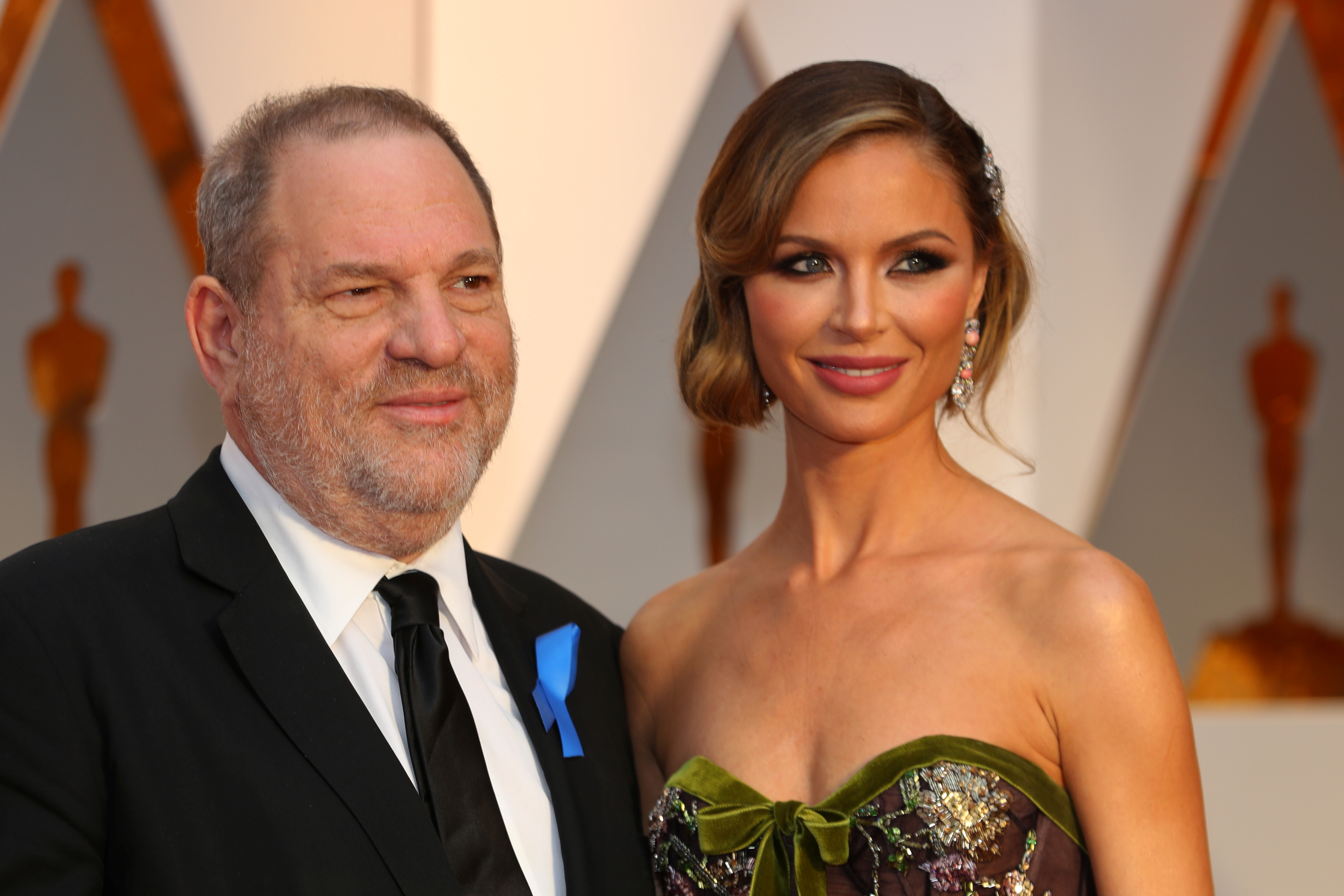 Harvey Weinstein and wife Georgina Chapman ararrive at the 89th Academy Awards in Hollywood, California, U.S. February 26, 2017. Picture taken February 26, 2017. REUTERS/Mike Blake - RC1D3D179690