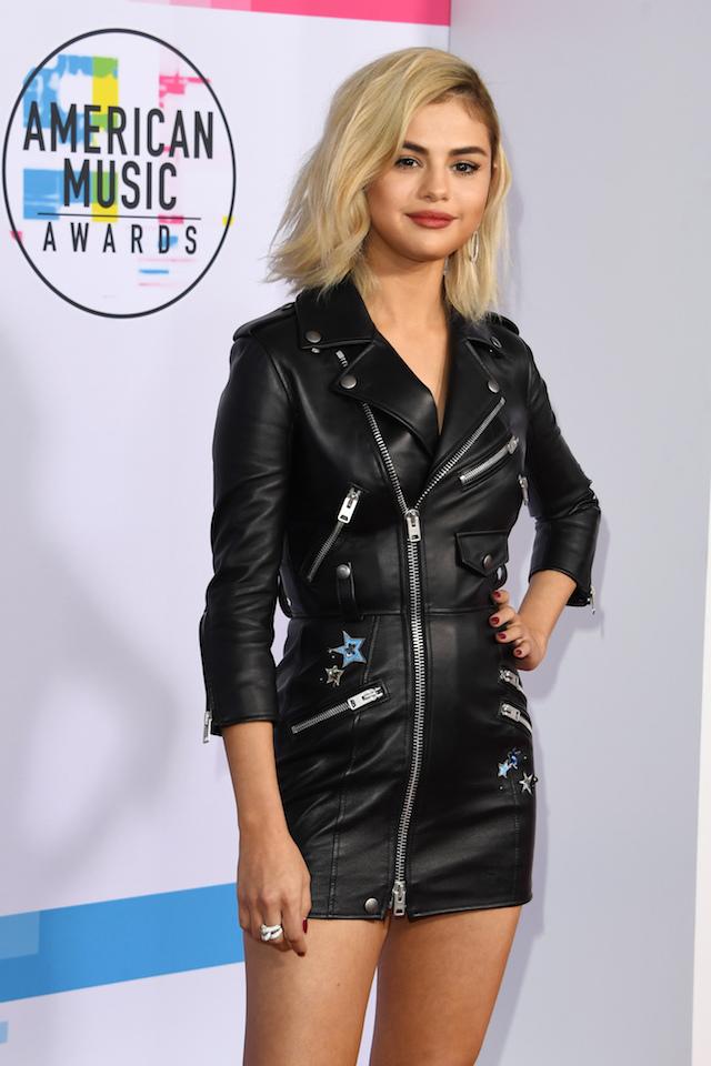 Singer Selena Gomez Arrives At The 2017 American Music Awards On November 19