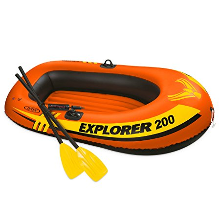 Normally $20, this inflatable boat set is 42 percent off today (Photo via Amazon)