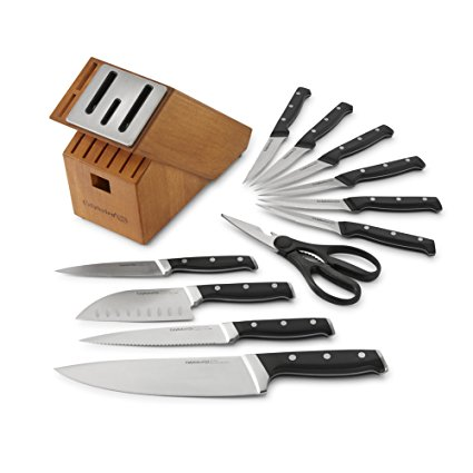 Normally $150, this 12-piece knife block set is 35 percent off today (Photo via Amazon)