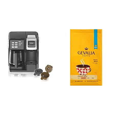 Normally $77 if purchased separately, this coffee maker and coffee bundle is 33 percent off today (Photo via Amazon)
