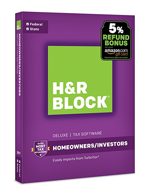 Normally $45, H&R Block's homeowner/investment software is 56 percent off today (Photo via Amazon)