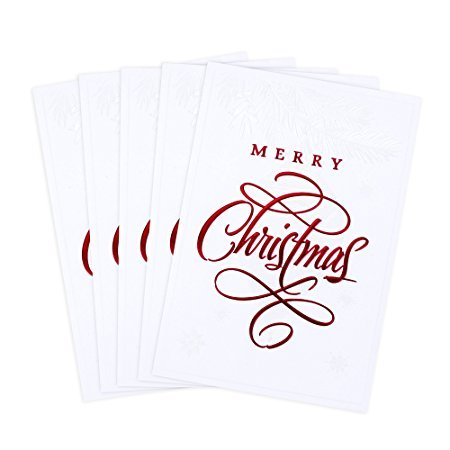 Normally $11, these Christmas cards are 30 percent off today (Photo via Amazon)