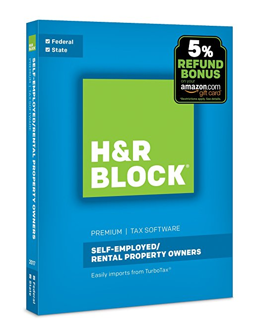 Normally $45, H&R Block's self-employed software is 54 percent off today (Photo via Amazon)
