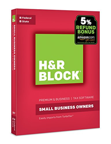 Normally $80, H&R Block's small business owner software is 54 percent off today (Photo via Amazon)