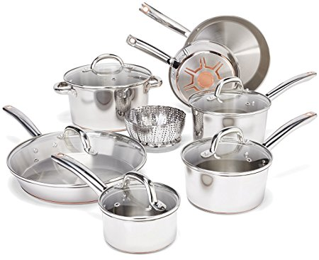 Normally $200, this 13-piece cookware set is 50 percent off today (Photo via Amazon)