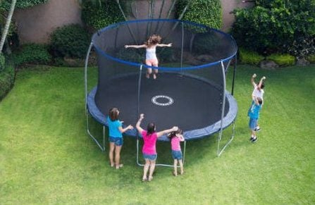 Normally $320, this trampoline is 40 percent off (Photo via Walmart)