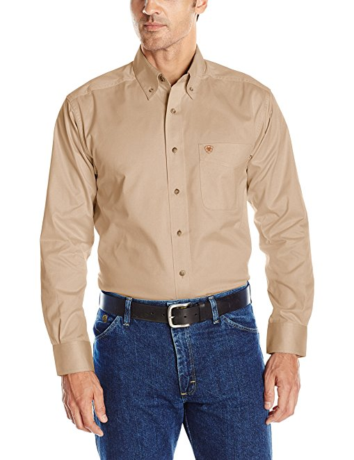 Normally $55, this twill shirt is 51 percent off today. It comes in 14 different colors (Photo via Amazon)