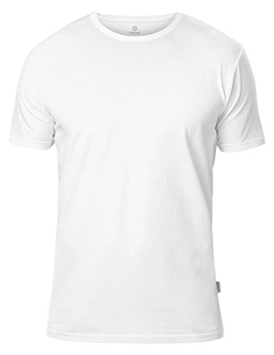 Normally $40, this 2-pack of crew neck undershirts is 40 percent off today. They are available in black, white, blue and grey (Photo via Amazon)