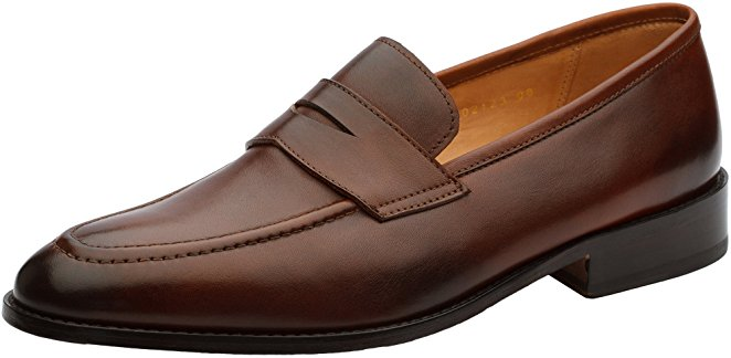 Normally $180, these penny loafers are 45 percent off today. They are available in brown, crocodile brown, crocodile burgundy and black (Photo via Amazon)