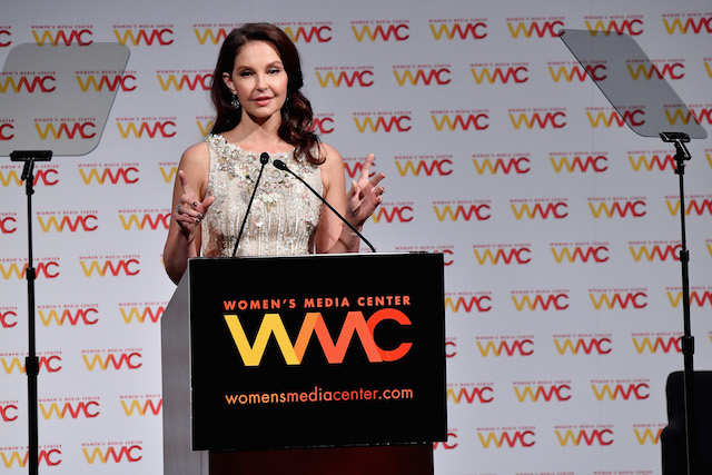 NEW YORK, NY - OCTOBER 26: Ashley Judd accepts the WMC Speaking Truth To Power Award onstage at the Women's Media Center 2017 Women's Media Awards at Capitale on October 26, 2017 in New York City. (Photo by Mike Coppola/Getty Images for Women's Media Center)