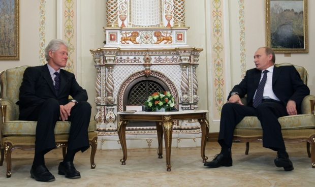 Clinton and Putin AFP/Getty Images/Alexey Druzhinin