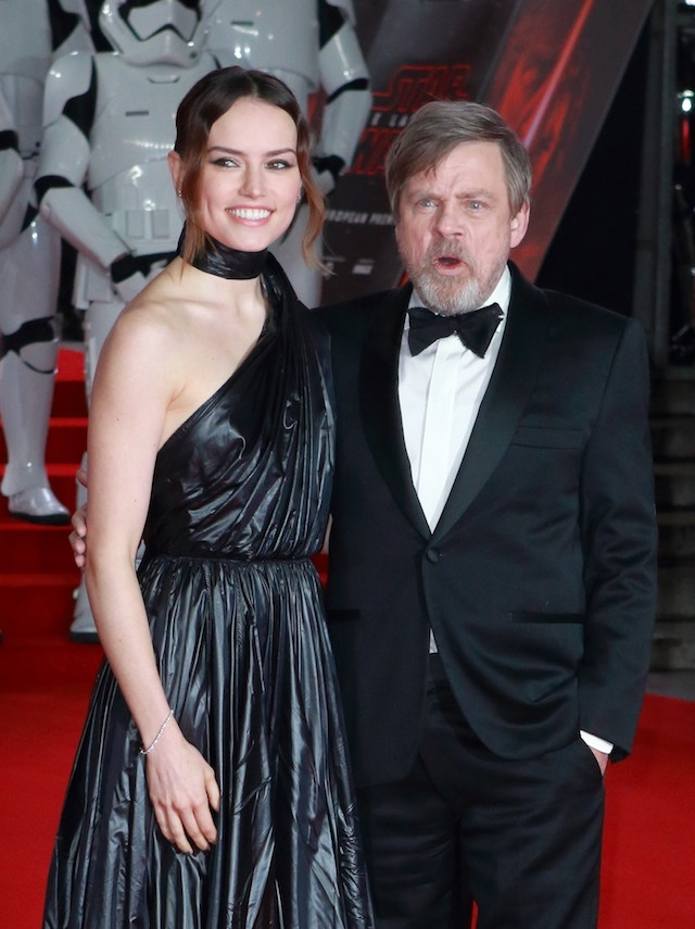 Celebrities arrive on the red carpet to attend the premiere of 'Star Wars: The Last Jedi', held at the Royal Albert Hall in London, England. Pictured: Daisy Ridley, Mark Hamill Ref: SPL1636878 121217 Picture by: Flynet - Splash News