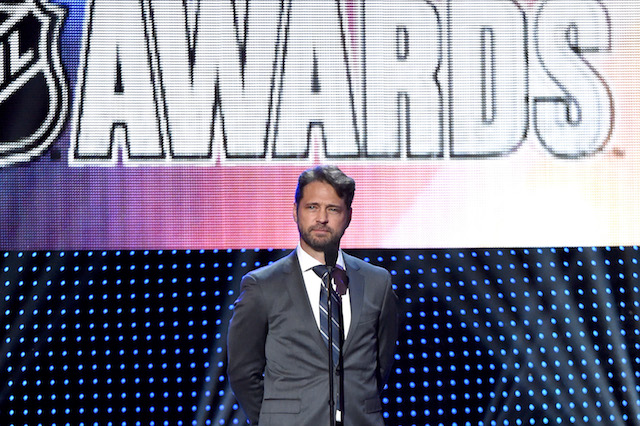 LAS VEGAS, NV - JUNE 22: Actor Jason Priestley presents during the 2016 NHL Awards at The Joint inside the Hard Rock Hotel & Casino on June 22, 2016 in Las Vegas, Nevada. (Photo by Ethan Miller/Getty Images)