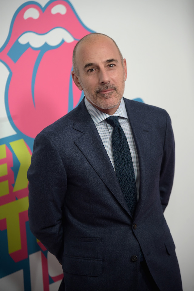 NEW YORK, NY - NOVEMBER 15: Matt Lauer attends The Rolling Stones celebrate the North American debut of Exhibitionism at Industria in the West Village on November 15, 2016 in New York City. (Photo by Jason Kempin/Getty Images for for The Rolling Stones)