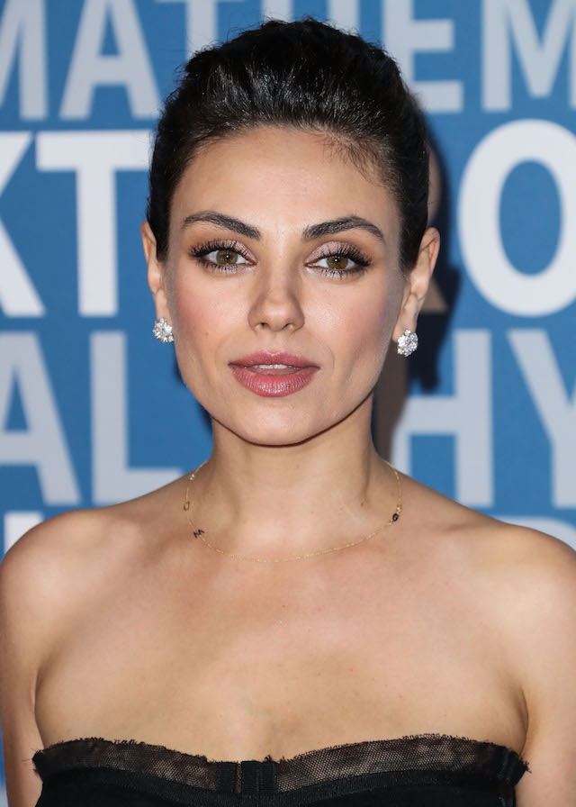 Actress Mila Kunis wearing a Dolce & Gabbana dress arrives at the 2018 Breakthrough Prize Ceremony held at the NASA Ames Research Center on December 3, 2017 in Mountain View, California. (Photo by Xavier Collin/Image Press Agency/Splash News)