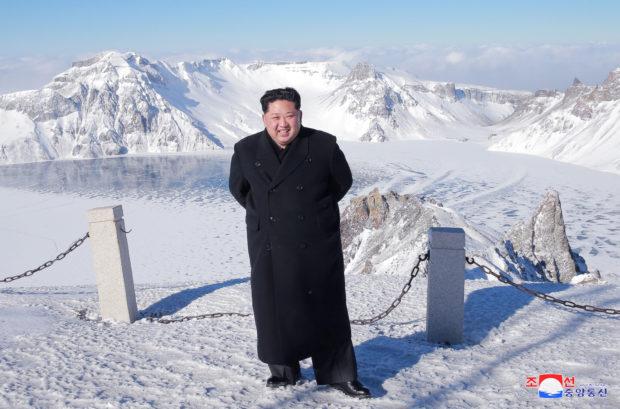 North Korean leader Kim Jong Un visits Mount Paektu in this photo released by North Korea's Korean Central News Agency (KCNA) in Pyongyang December 9, 2017. KCNA/via REUTERS
