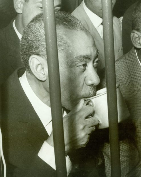 Sayyid Qutb under arrest in Cairo in 1966. AFP/Getty Images