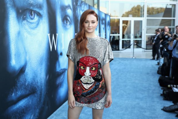 LOS ANGELES, CA - JULY 12: Actor Sophie Turner attends the premiere of HBO's 'Game Of Thrones' season 7 at Walt Disney Concert Hall on July 12, 2017 in Los Angeles, California. (Photo by Neilson Barnard/Getty Images)