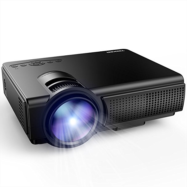 Normally $73, this projector is 32 percent off with this code (Photo via Amazon)