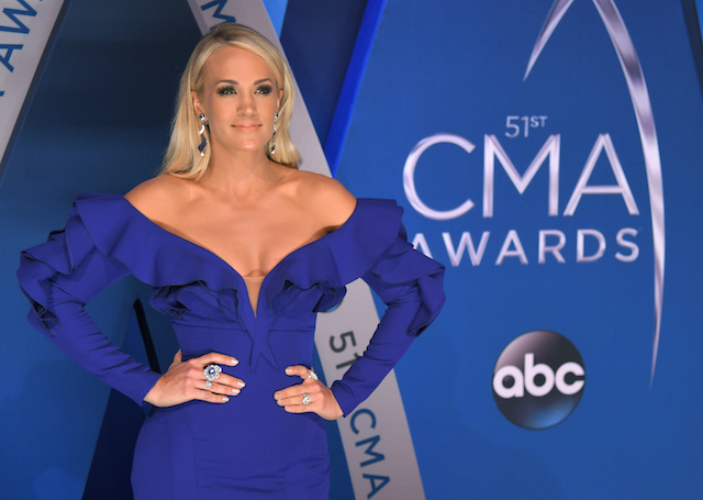 51st Country Music Association Awards ñ Arrivals - Nashville, Tennessee, U.S., 08/11/2017 - Singer Carrie Underwood. REUTERS/Harrison McClary - HP1EDB81TKV7D