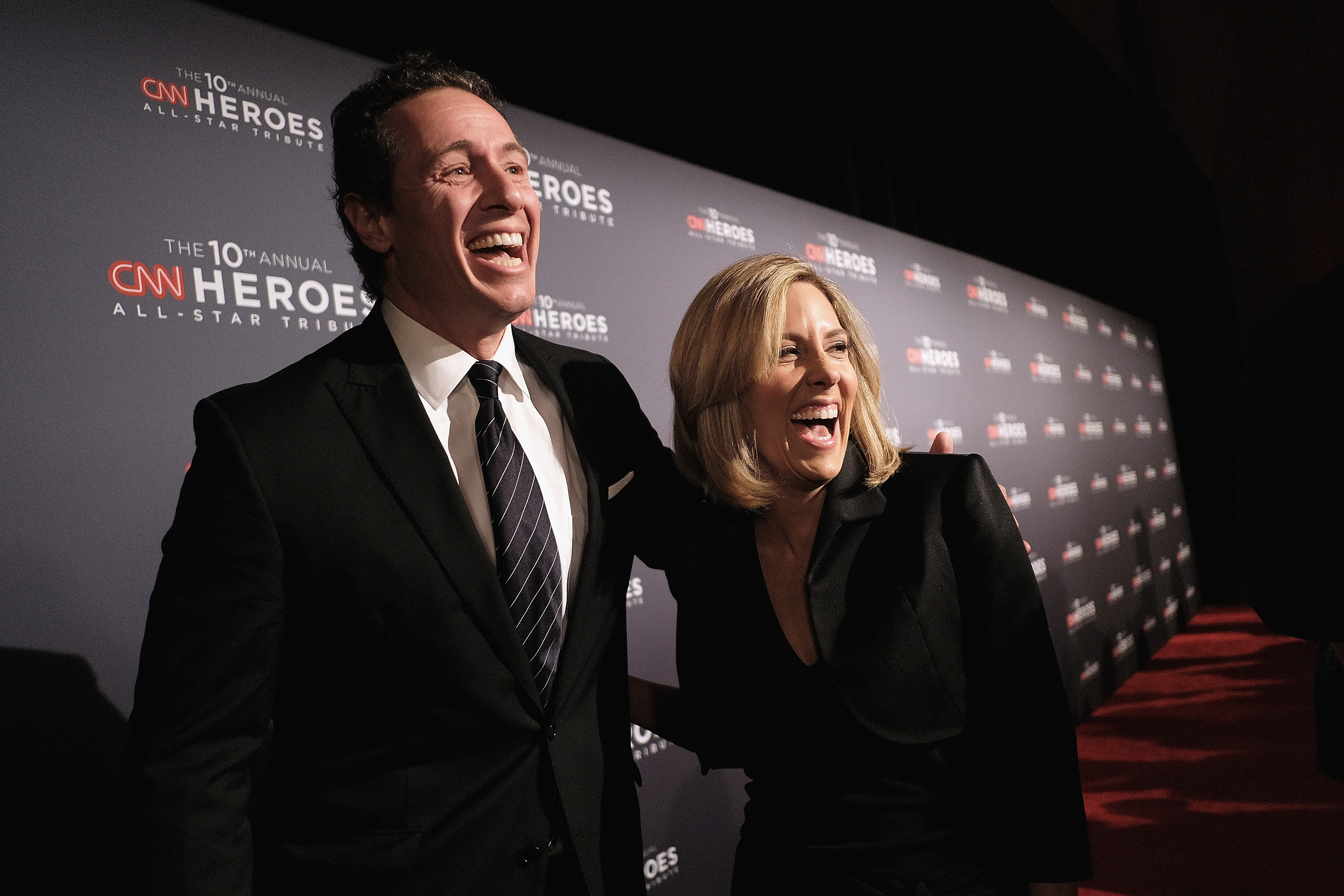 NEW YORK, NY - DECEMBER 11: Chris Cuomo (L) and Alisyn Camerota attend CNN Heroes Gala 2016 at the American Museum of Natural History on December 11, 2016 in New York City. 26362_012 (Photo by Jason Kempin/Getty Images for Turner)