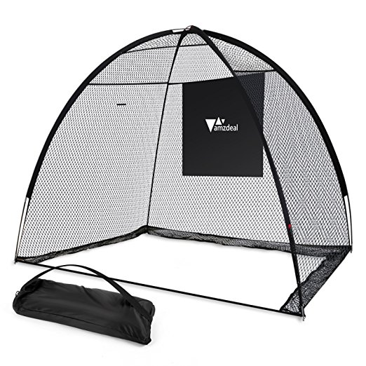 Normally $90, this golf training net is 25 percent off with this code (Photo via Amazon)